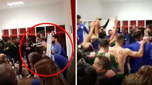 Athletic celebrated reaching Copa final by playing the trumpet!
