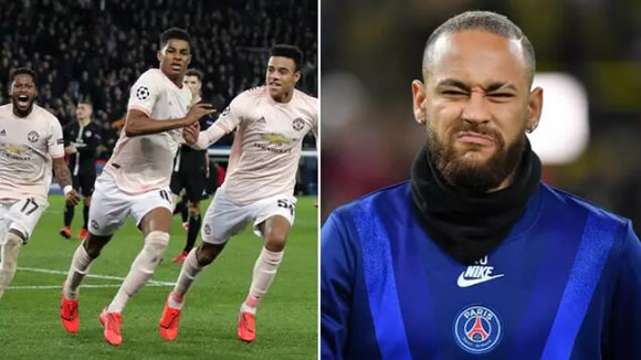 Neymar Leaves Hilarious Comment On Marcus Rashford's Manchester United Celebration Post