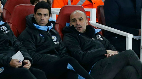Arteta's Arsenal approach won't 'copy and paste' Guardiola's methods at Man City