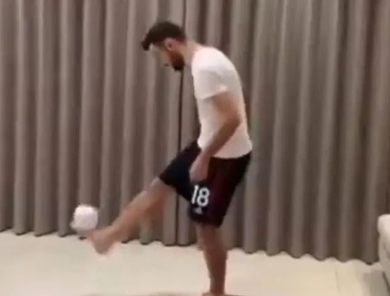 Bruno Fernandes nails Stay At Home Challenge as Man Utd star performs keepy-ups with loo roll during coronavirus crisis