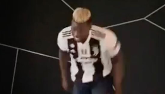 Paul Pogba trains in Juventus top and explains why to Man Utd fans
