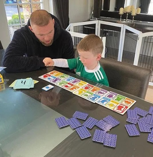 Inside Wayne and Coleen Rooney's coronavirus lockdown at home as kids do school work and Man Utd legend even helps teach
