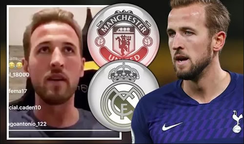 Harry Kane puts Man Utd and Real Madrid on alert with Tottenham transfer admission