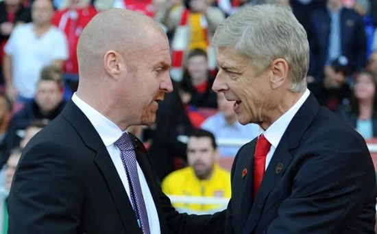 RED WHINE Burnley boss Sean Dyche reveals he gave Arsene Wenger 'rubbish' red wine and felt he had to apologise to Arsenal boss