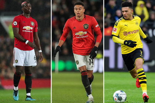 Man Utd ready to flog Paul Pogba and Jesse Lingard in flash sale to raise funds for Jadon Sancho transfer