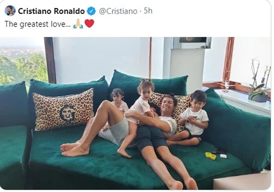 Cristiano Ronaldo shares first photo with family locked down in Italy as he quarantines before return to training
