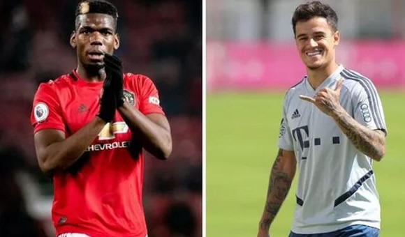 Man Utd star Paul Pogba sent Philippe Coutinho warning as star opens transfer talks
