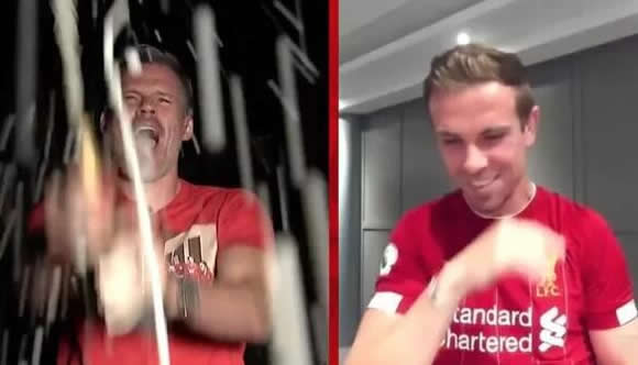 Sky Sports urged to sack Jamie Carragher after Liverpool icon joins wild celebrations