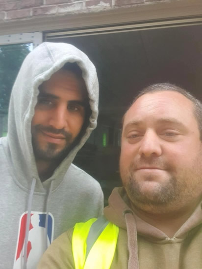 OWN GOAL Manchester United fan sacked after breaching coronavirus guidelines to take selfie with City ace Riyad Mahrez