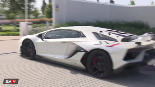 Eden Hazard adds £500,000 Lamborghini Aventador SVJ to his stunning car collection as he shows off new motor in training