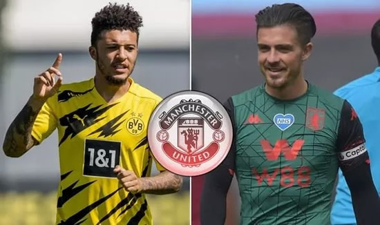 Man Utd change stance on £80m Jack Grealish transfer as Red Devils eye Jadon Sancho swoop