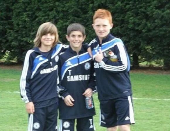 Chelsea post incredible throwback snap of 11-year-old Christian Pulisic meeting Mason Mount on academy visit