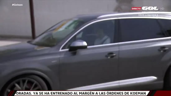 Bale leaves Valdebebas in the 27th minute of Real Madrid's friendly