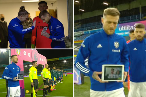 Touching moment Leeds' Cooper makes 13-year-old boy suffering from cancer a virtual mascot via iPad for Arsenal clash