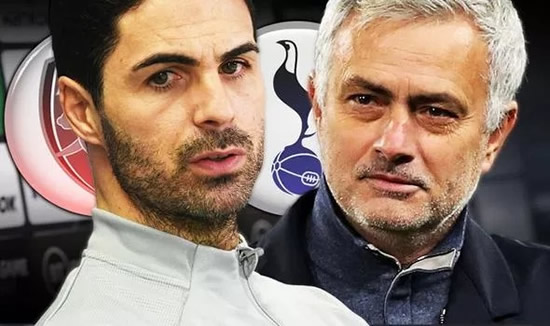 Arsenal boss Mikel Arteta hails Jose Mourinho's Tottenham but refuses Spurs title claims