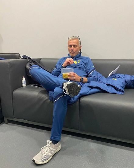 GAME FOR A LAUGH Jose Mourinho's funny Instagram posts, from eating popcorn to calling Spurs stars out for their mobile phone obsession