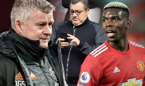Man Utd boss Ole Gunnar Solskjaer casts doubt on Paul Pogba's future after holding talks