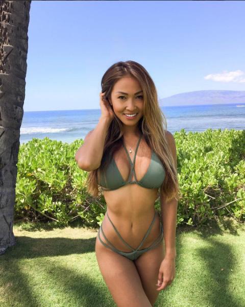Sexy asian bikini model