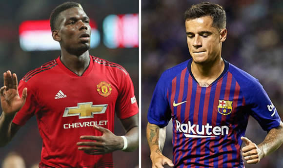 Barcelona GIVE UP on Paul Pogba but star will try to copy Coutinho plan