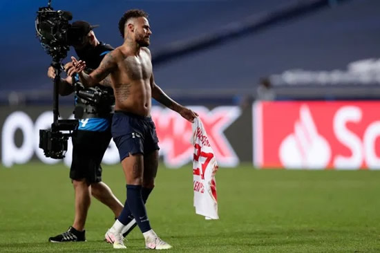 NEY BOTHER Neymar could be BANNED for Champions League final after swapping shirts with Halstenberg following PSG's win vs Leipzig