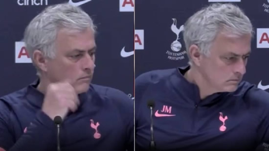 Mourinho reaction after he learns of Prince Philip's death in press conference
